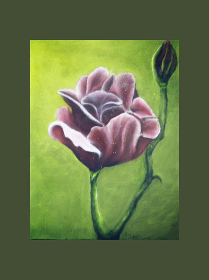 Rose Painting - Twilight Rose by Sherry Bunker
