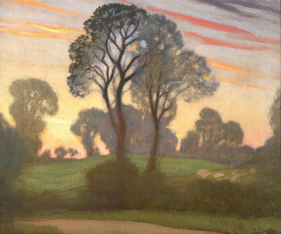 Sir George Clausen Painting - Twilight by Sir George Clausen