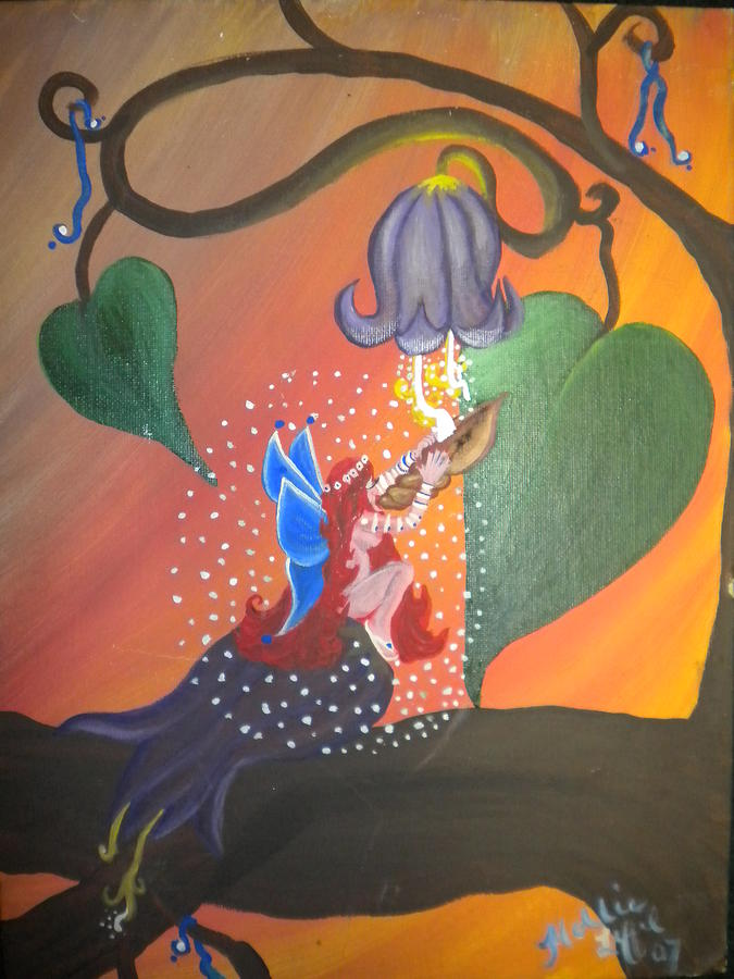 Colorful Painting - Twilight Thirst by Hollie Leffel