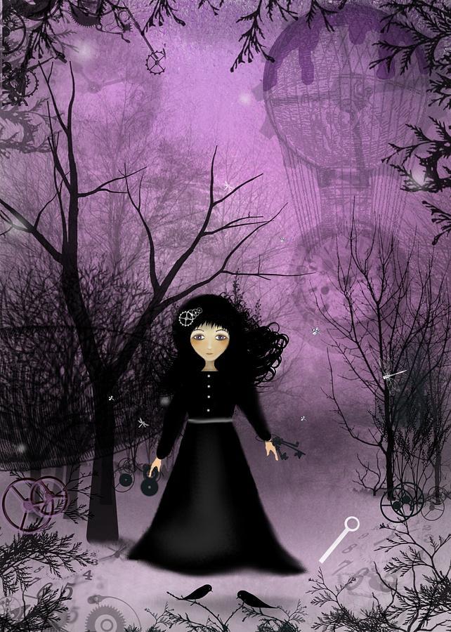 Girl Digital Art - Twilight Time by Charlene Zatloukal