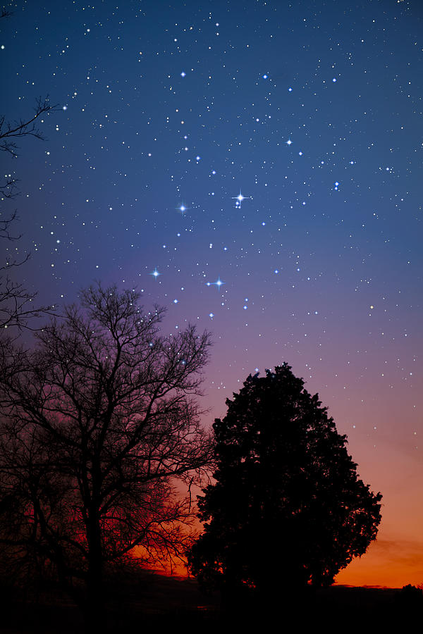 Stars Photograph - Twilight Transitions by Charles Warren