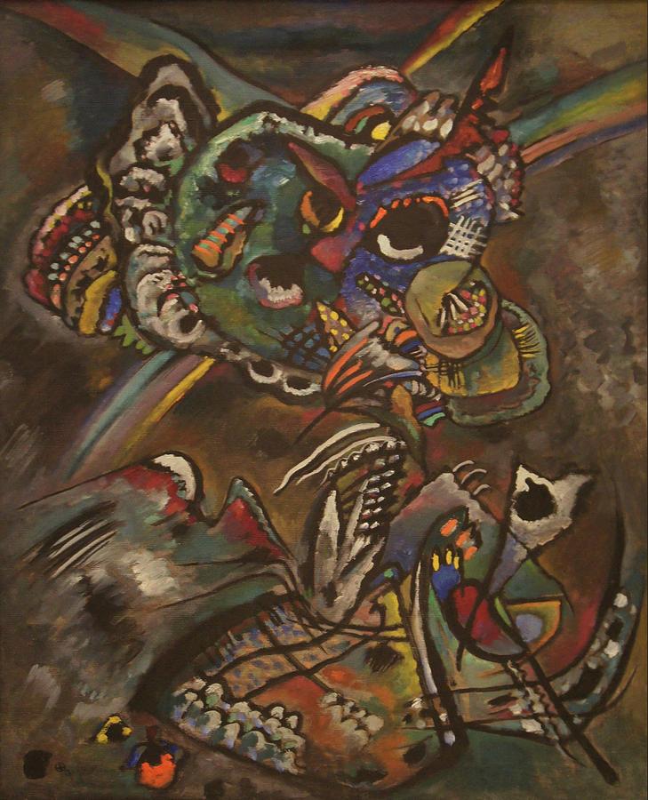 Wassily Kandinsky Painting - Twilight by Wassily Kandinsky