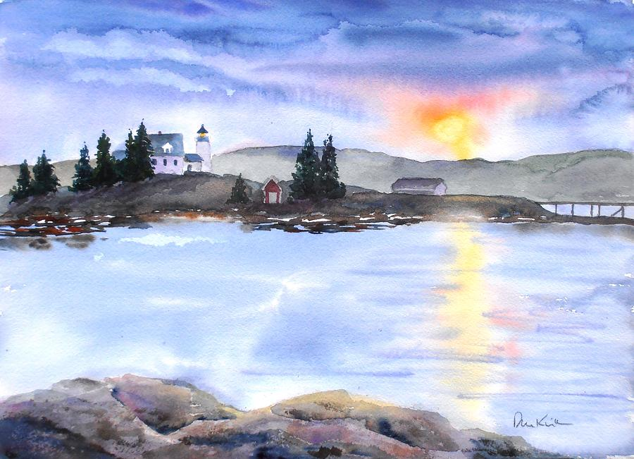Maine Painting - Twilight Welcome by Diane Kirk