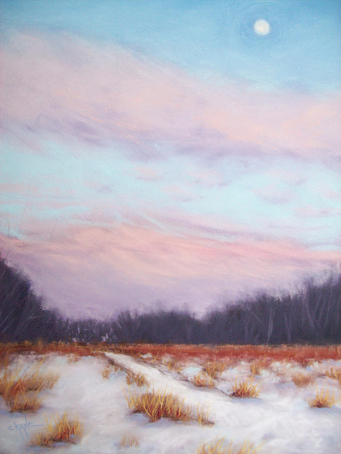 Winter Landscape Pastel - Twilight Winter Whisper by Christine Camp