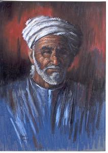 Portrait Painting - Twilight Years by Tina Siddiqui