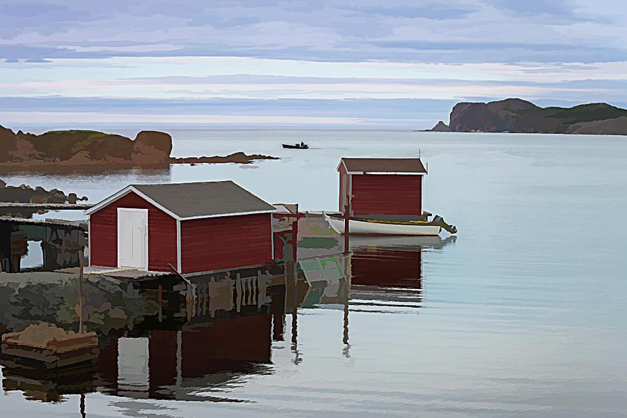 Twillingate Fishing Stages by Glenn Springer