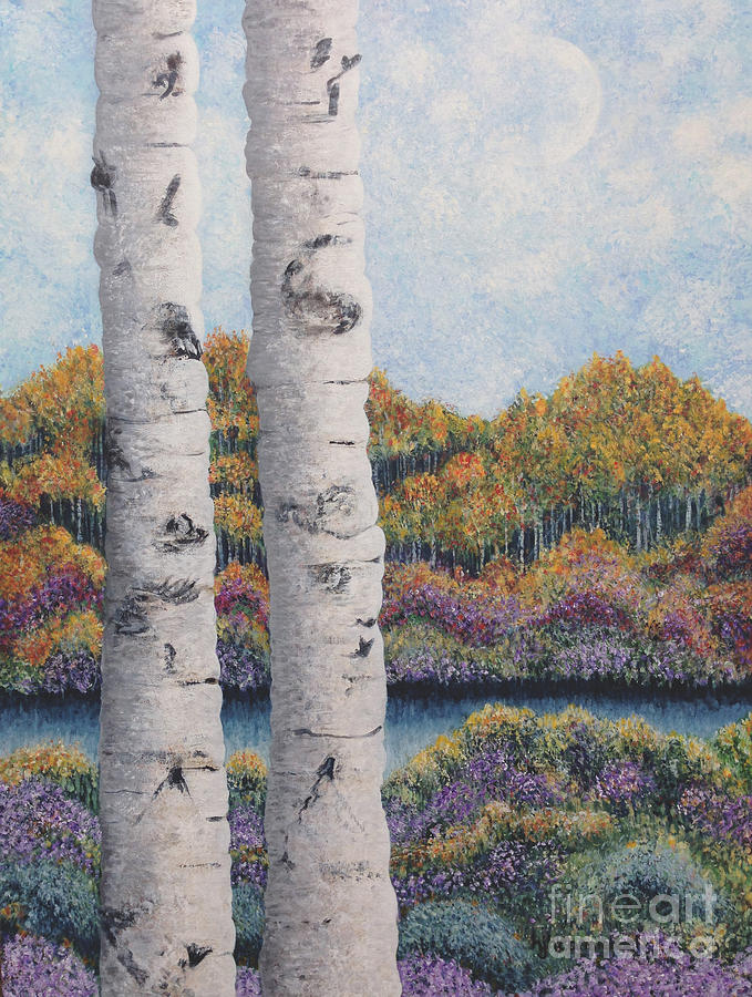 Twin Aspens by Holly Carmichael