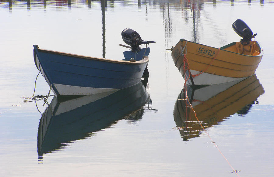 Boat Photograph - Twin Boats by Frederic Durville
