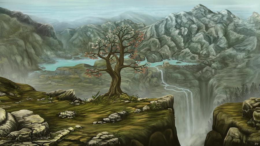 Twin Falls Kingdom Painting by J-D Macfarlane