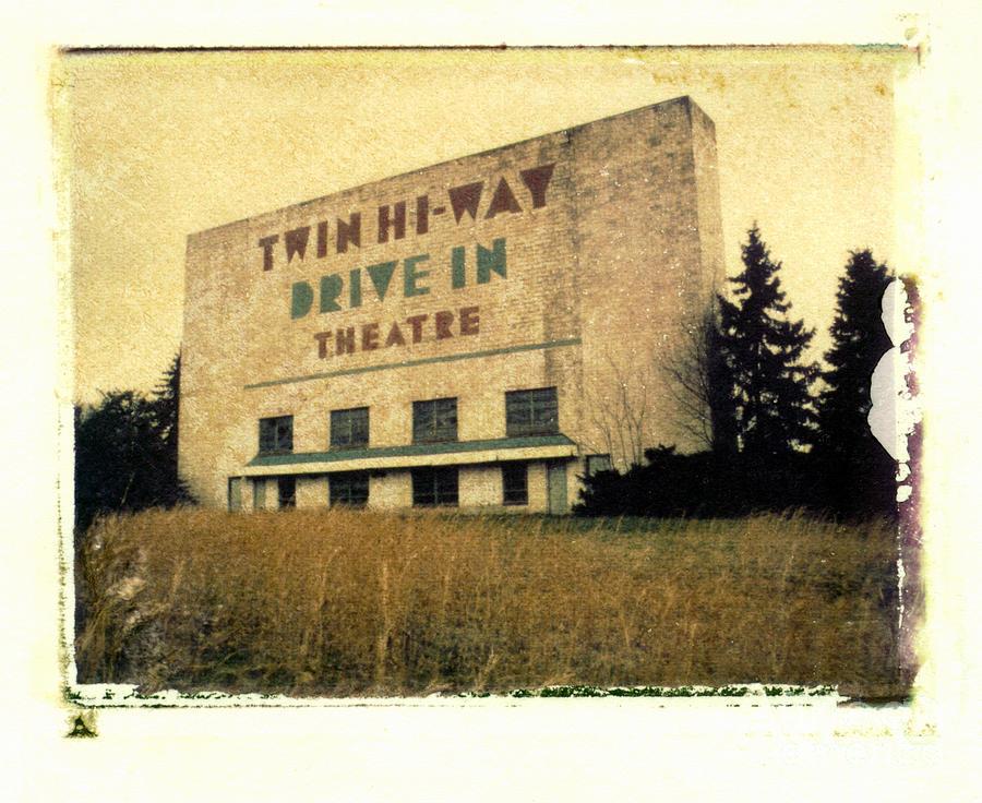 Polaroid Photograph - Twin Hi-way Drive-in by Steven  Godfrey