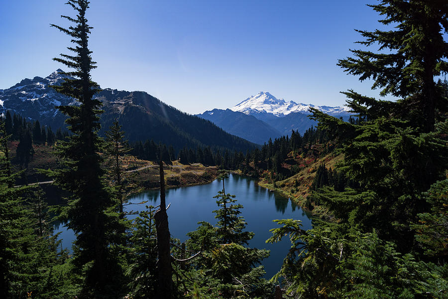 Twin Lake And Mt. Baker Photograph by Tim Dussault