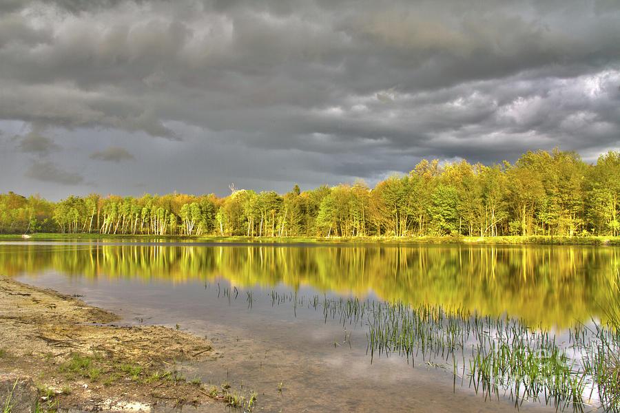 Lake Photograph - Twin Lake by Dmitriy Mirochnik