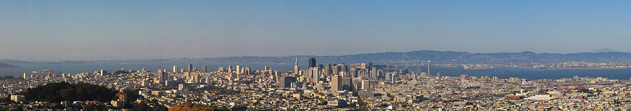 San Francisco Photograph - Twin Peaks City View by Paul Owen