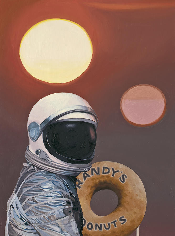 Space Painting - Twin Suns and Donuts by Scott Listfield