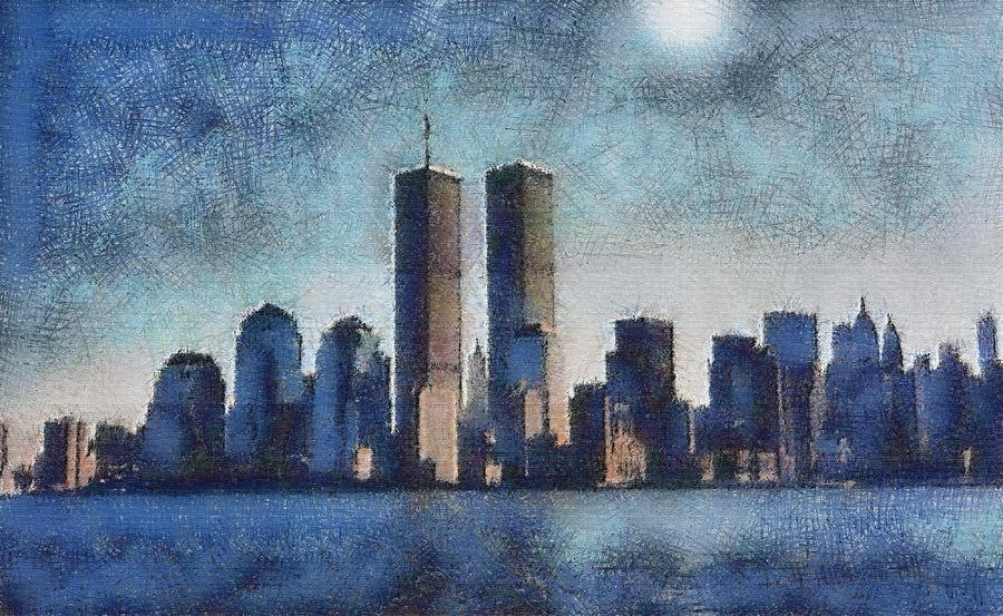 Historic Photograph - Twin Towers - In Memorium by John Winner