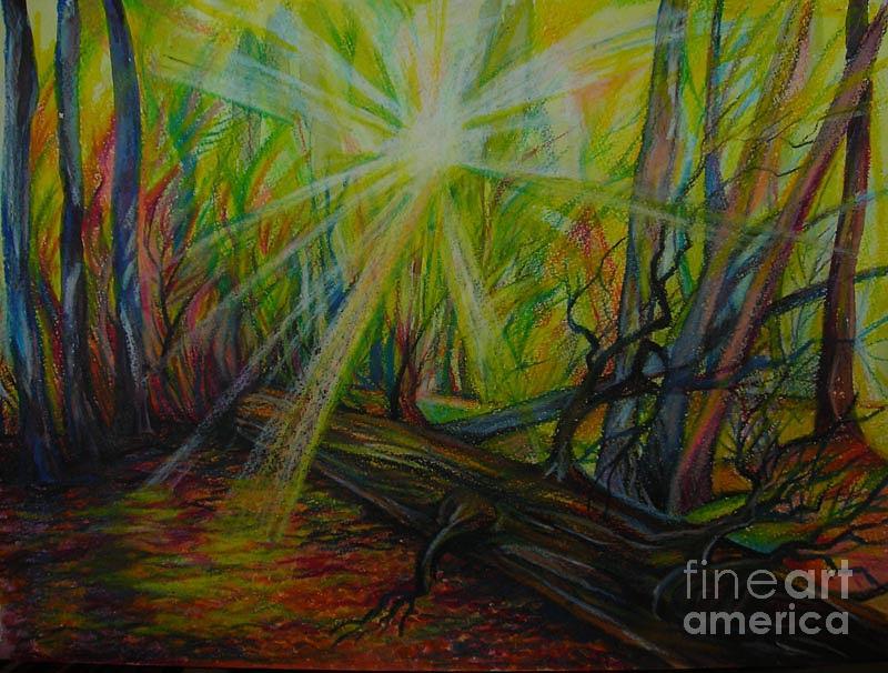Anna Duyunova Drawing - Twinkle Twinkle Autumn Light by Anna  Duyunova