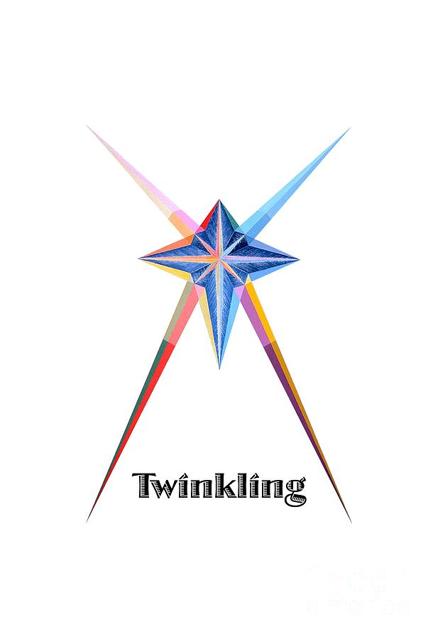 Collection Painting - Twinkling text by Michael Bellon