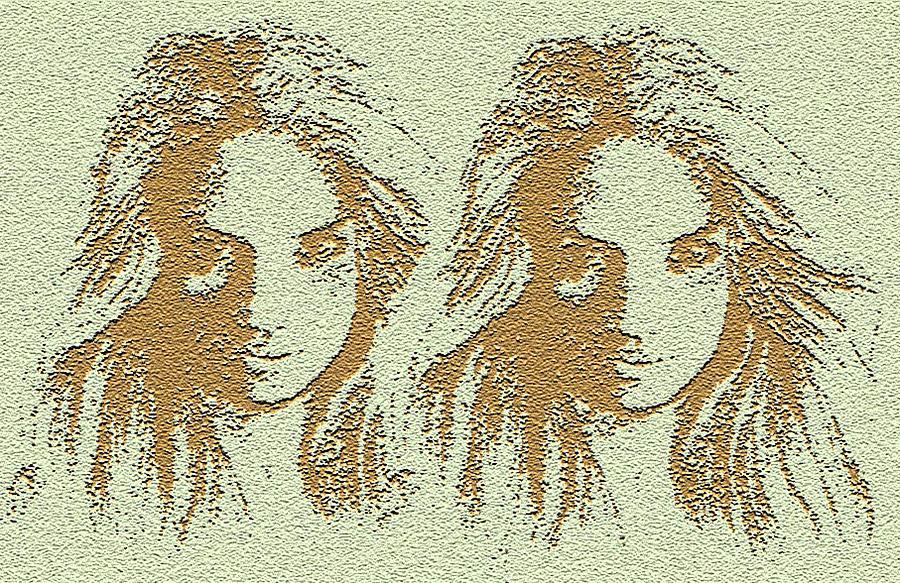 Twins Digital Art - Twins 2 by Alan Pickersgill