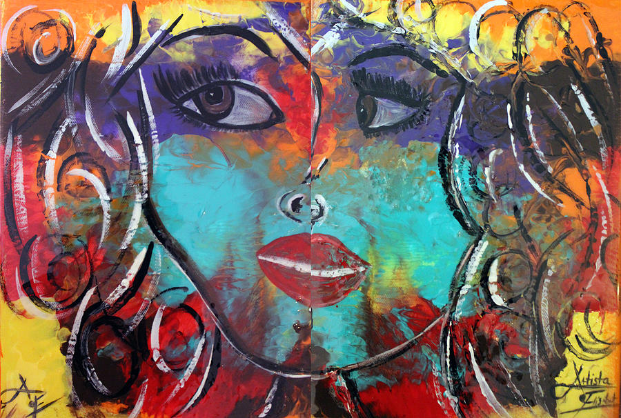 Twins Painting - Twins  by Artista Elisabet