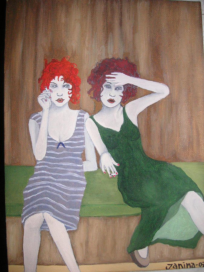 Twins Painting - Twins by Janina Magnusson