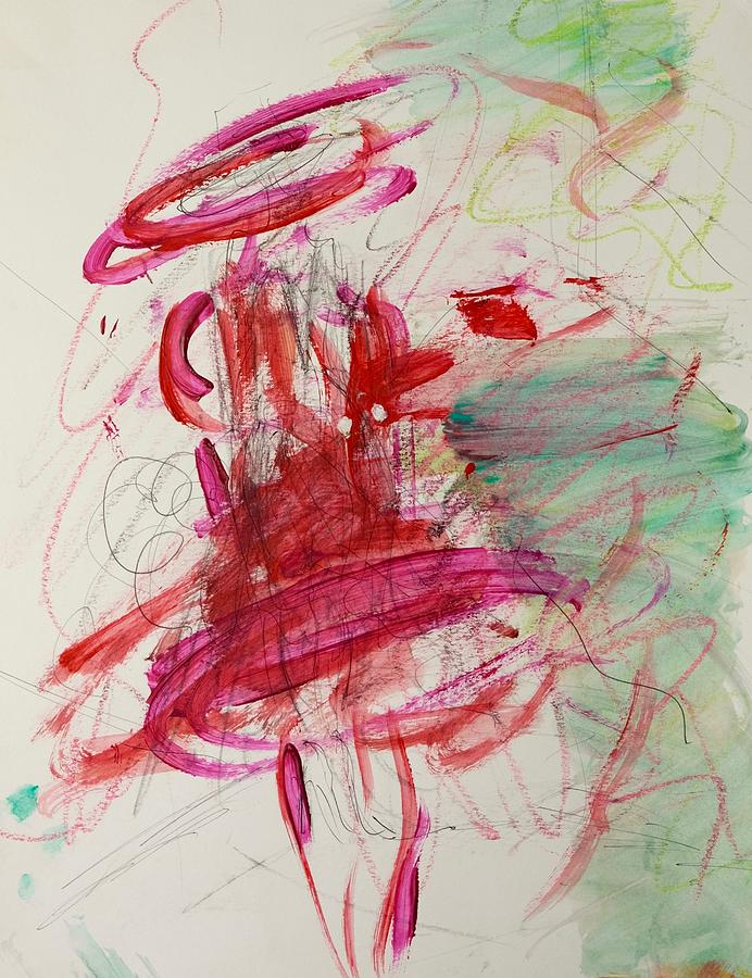 Movement Painting - Twirl by Barbara Rose Brooker