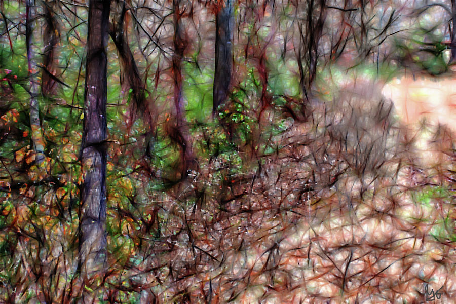 Twirling Vines by Gina O'Brien