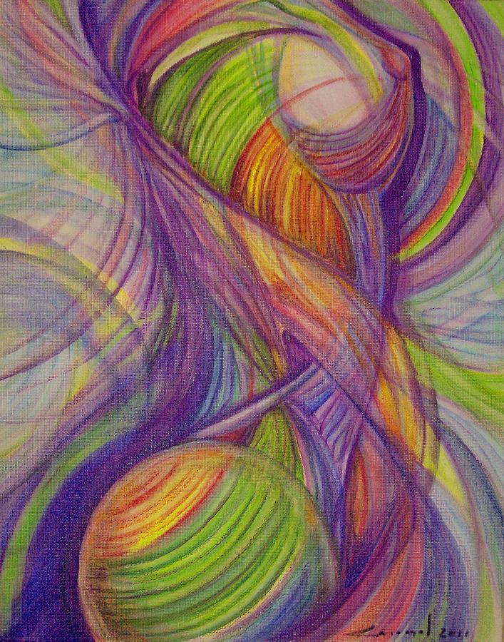 Female Painting - Twist by Caroline Czelatko