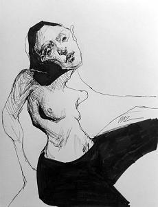 Disproportion Drawing - Twist Of Faith by Paz Winshtein