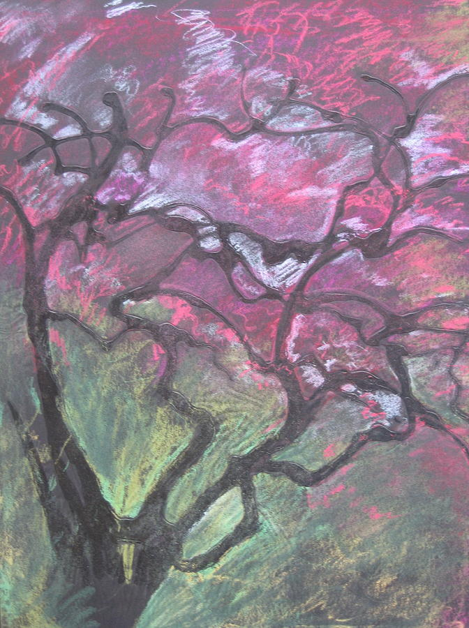 Pastel Drawing - Twisted Cherry by Leah  Tomaino