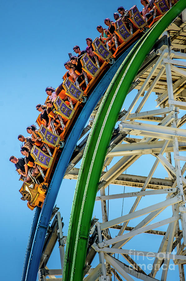 Rollercoaster Photograph - Twisted Colossus Faces by Matthew Nelson