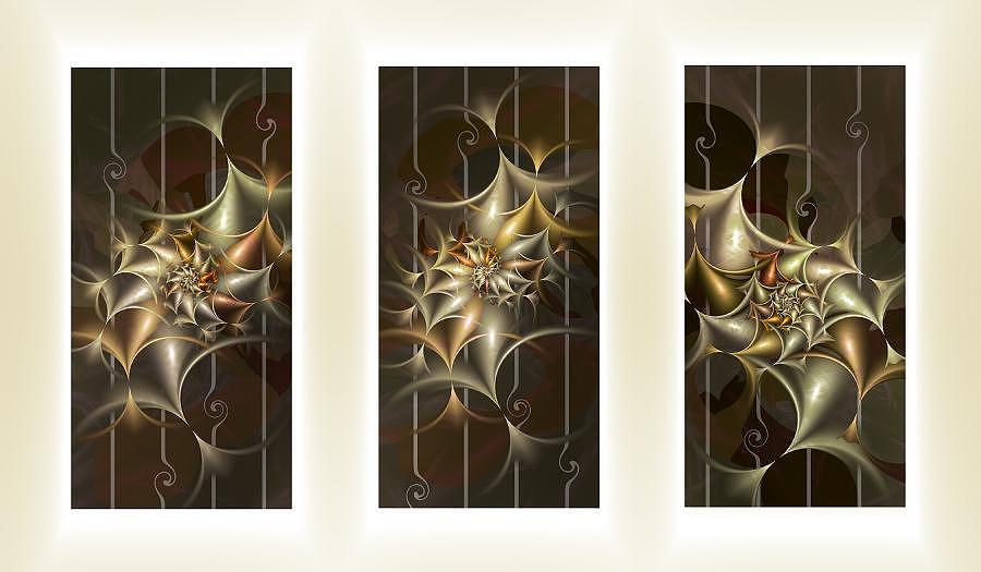 Fractal Digital Art - Twisted by Cornelia Yoder