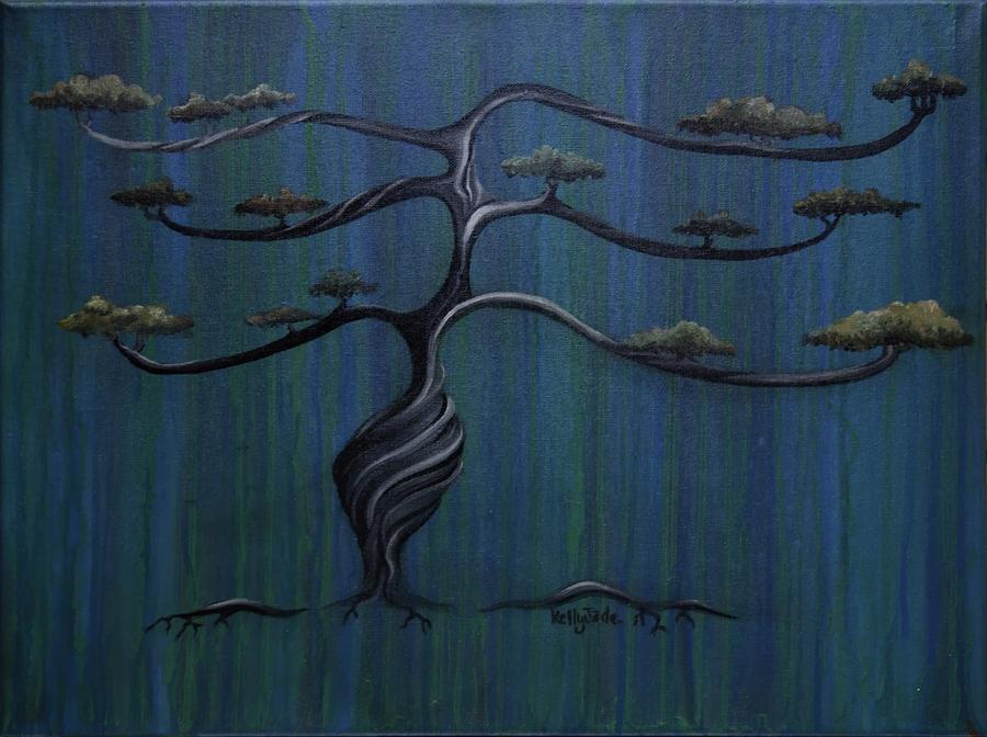 Tree Painting - Twisted Oak by Kelly Jade King