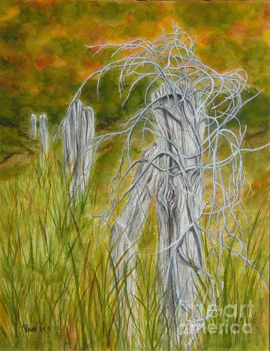 Landscape Painting - Twisted by Regan J Smith