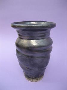 Wheel Thrown Ceramic Art - Twisting Vase by Elizabeth Bure