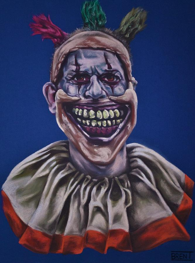 Twisty The Clown Drawing - Twisty The Clown  by Brent Andrew Doty
