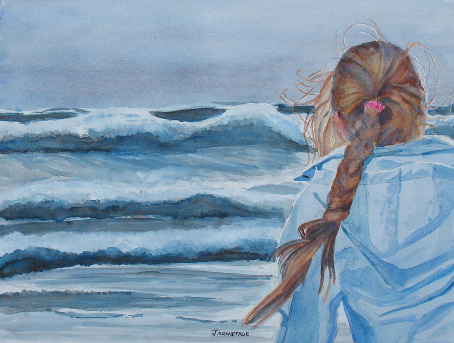 Ocean Painting - Twixt Wind and Water II by Jenny Armitage