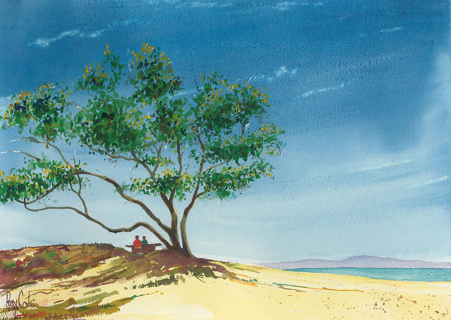 Beach Painting - Two At The Beach by Ray Cole