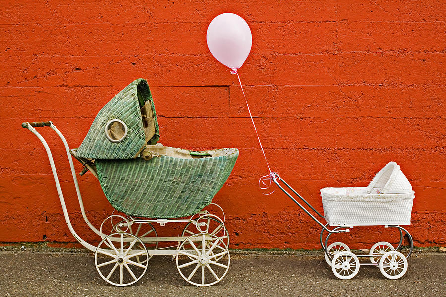 Baby Buggy Photograph - Two Baby Buggies  by Garry Gay