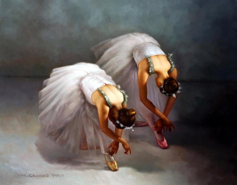 Two Ballerinas by Yoo Choong Yeul