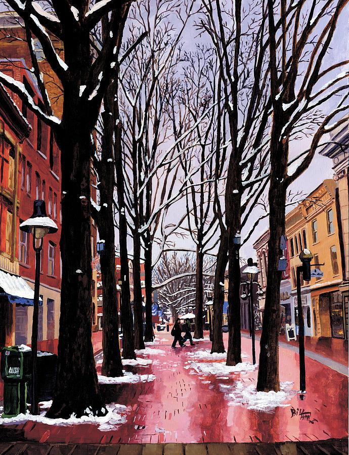Landscape Painting - Two bi Two, C-ville, VA by Bill Finn