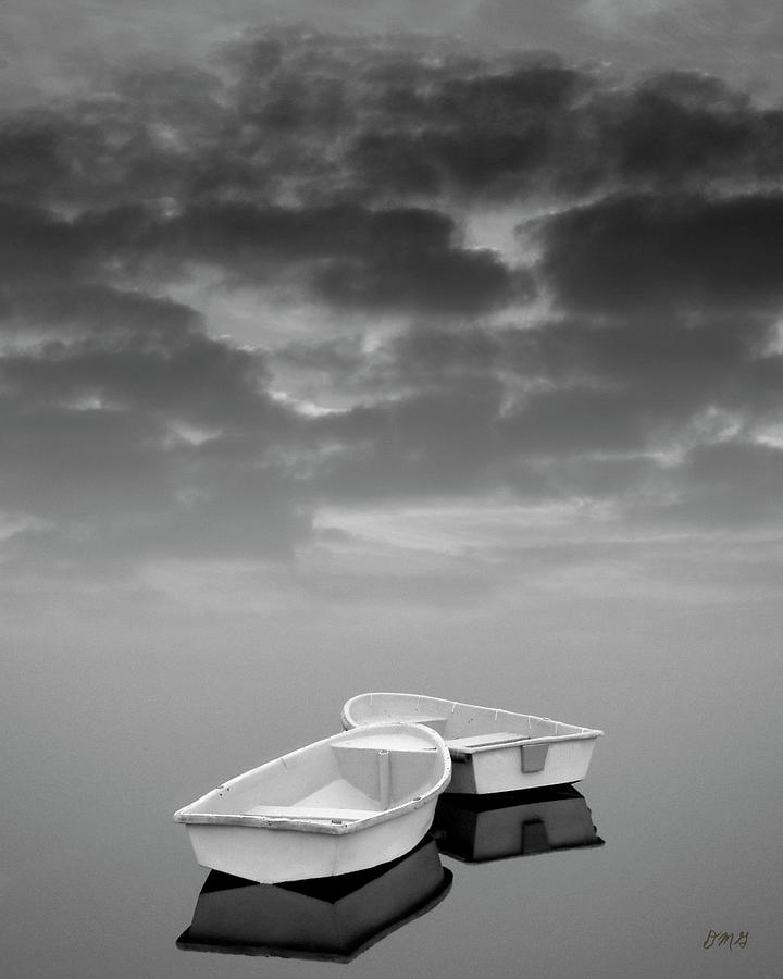 Boats Photograph - Two Boats And Clouds by Dave Gordon