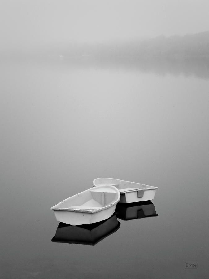 Two Boats and Fog by Dave Gordon
