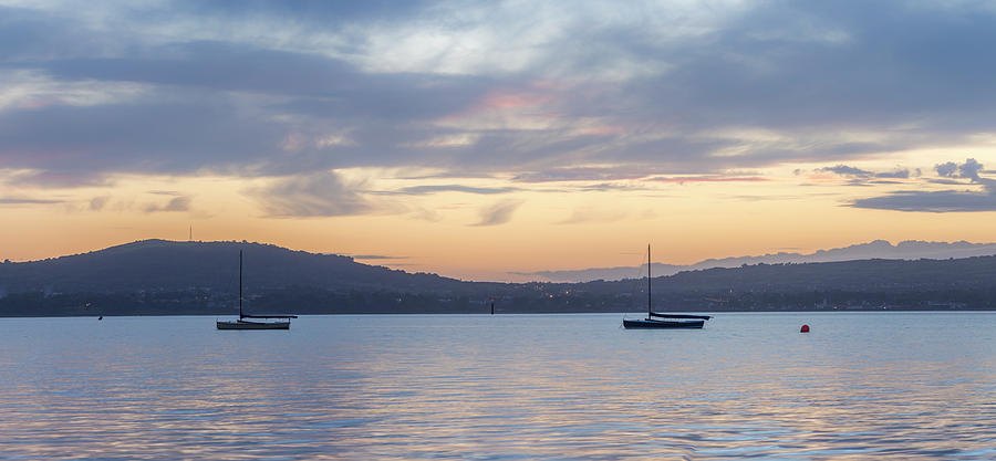 Belfast Photograph - Two Boats in Blue Holywood by Glen Sumner