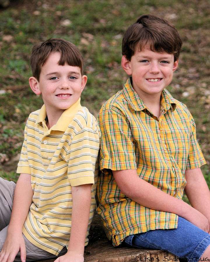 Two Boys Photograph by Lisa Johnston