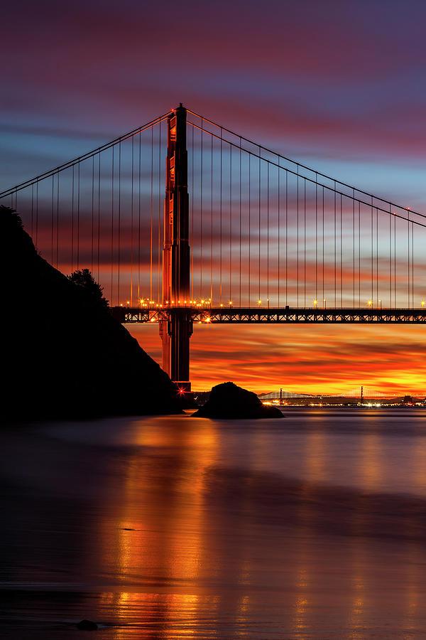 Two Bridges At Sunrise Photograph