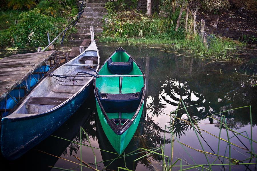 Canoe Photograph - Two Canoes by Douglas Barnett