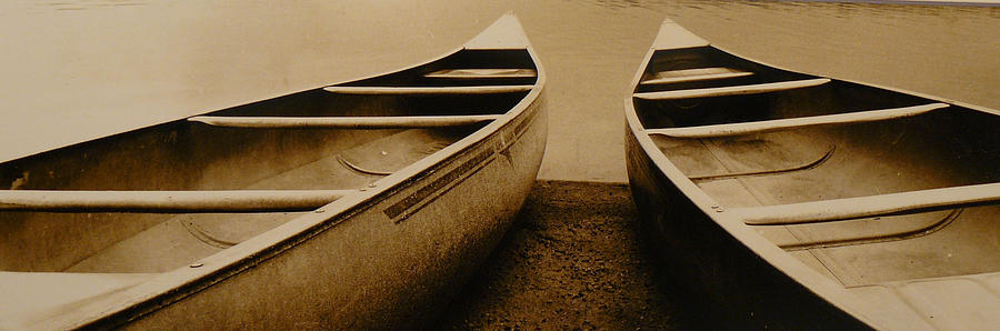 Canoes Photograph - Two Canoes by Jack Paolini