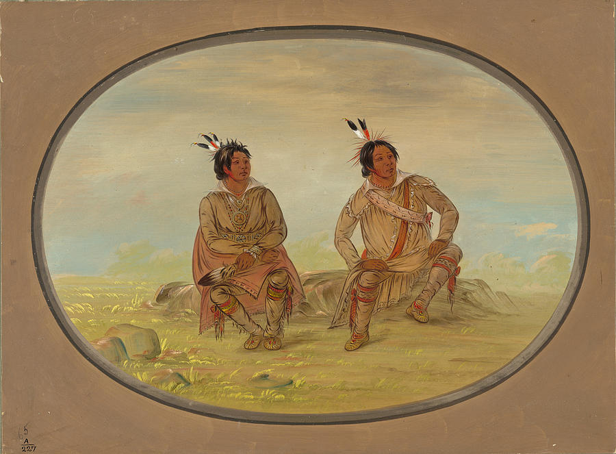 George Catlin Painting - Two Choctaw Indians by George Catlin
