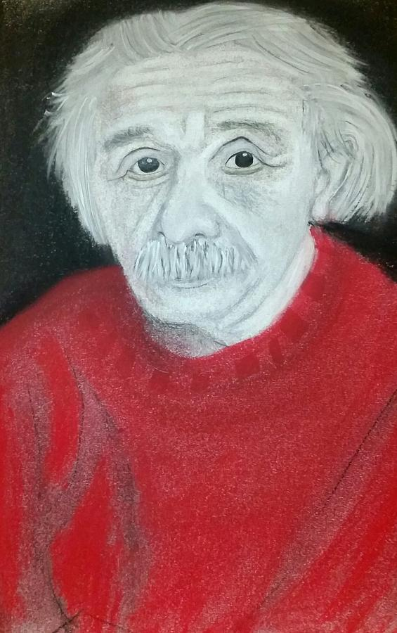 Einstein Drawing - Two Coincidence Two Be Coincidence by Tyler Schmeling