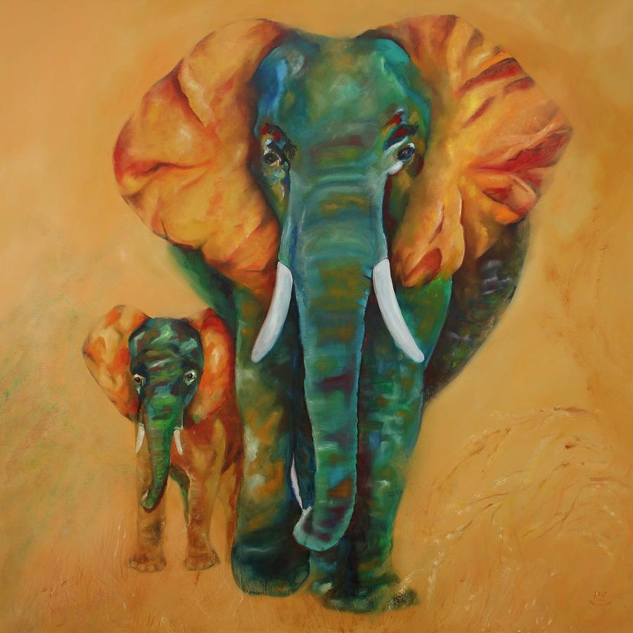 Two Elephants by Harri Spietz